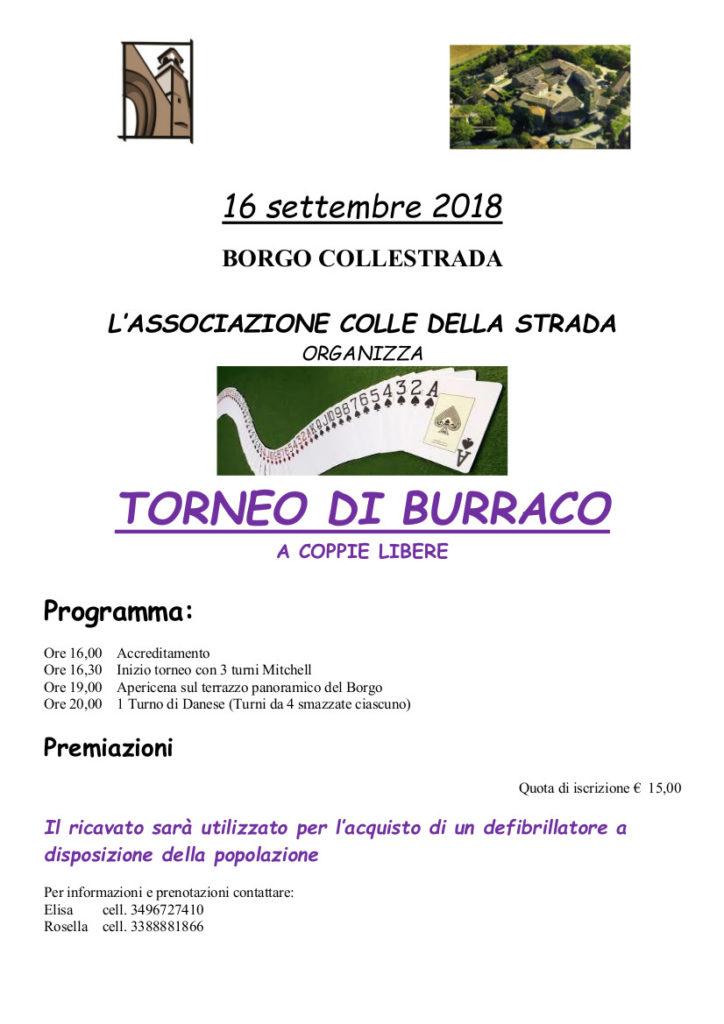 TORNEO DI BURRACO 16 Settembre 2018